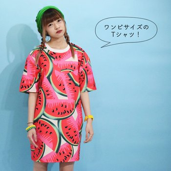 53f35006322b ACDC RAG Watermelon T-Shirt Dress | Tokyo Otaku Mode Shop