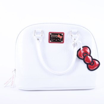 4cfe905b8945 Hello Kitty White w  Red Trim Embossed Dome Bag