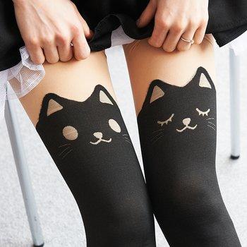 39a15c6b4a9 Animal Fake Thigh High Tights (Cat) 20
