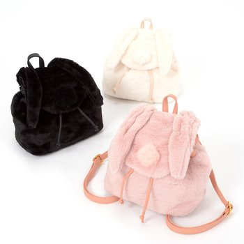 715c6b9463b5 FLAPPER Rabbit-Eared Furry Backpack 1