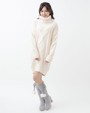 1ae73b012 LIZ LISA Knit Turtleneck Dress 1