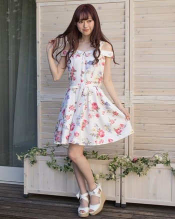 43845dc3719 LIZ LISA Vintage Flower Pattern Dress 1