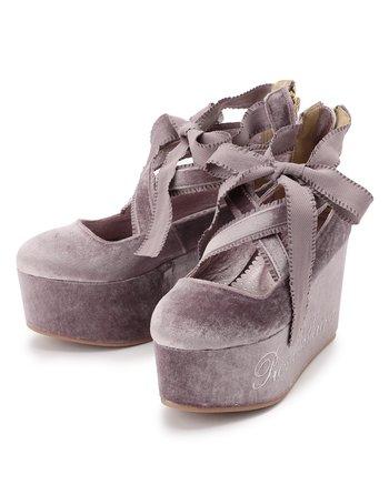 6e77eb76a70d LIZ LISA Velvet Ballerina Platform Shoes 1