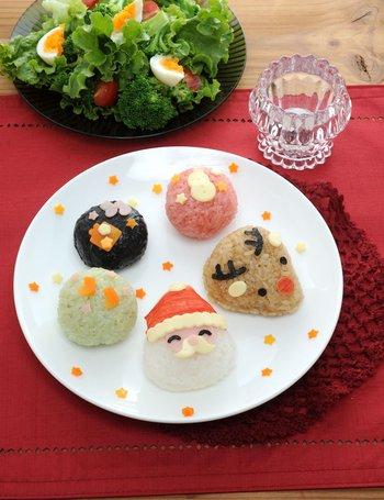 christmas with rice balls set - Christmas Rice