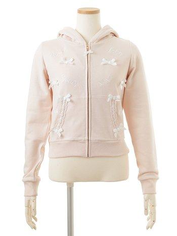 4d05b58e4 LIZ LISA Embroidery & Ribbons Zip Hoodie | Tokyo Otaku Mode Shop