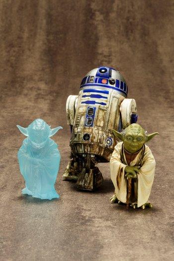 ArtFX+ Star Wars Yoda & R2-D2 Dagobah 2-Pack 1