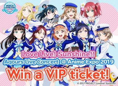 Love Live! Sunshine!! Aqours VIP Ticket Giveaway
