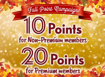 Fall Point 10/20x Campaign