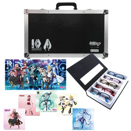 Hatsune Miku 10th Anniversary Computer Glasses Set 1