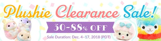 Big Plushie Clearance Sale