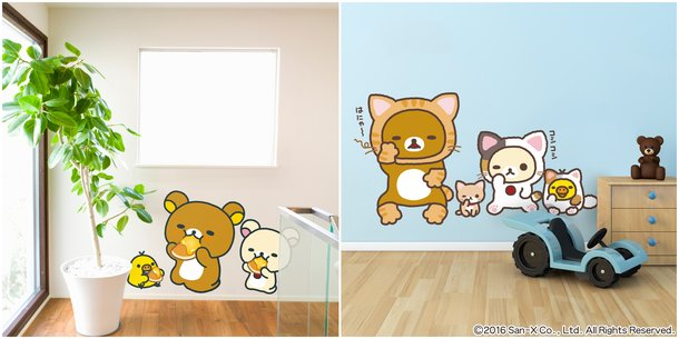 rilakkuma is here to fit into your everyday life! rilakkuma wall
