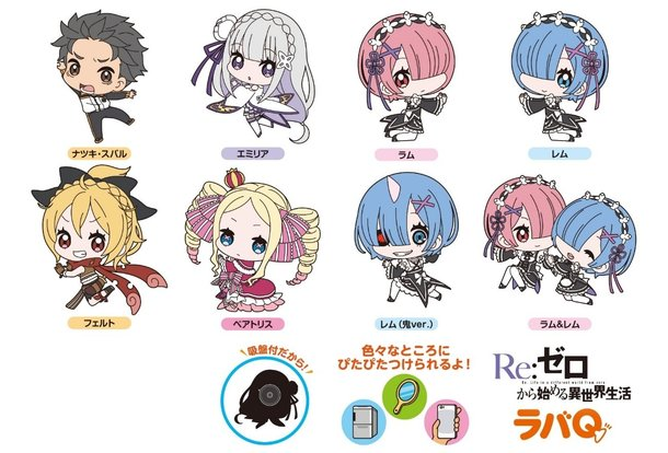 Anime Characters That Start With E : Re zero starting life in another world rubber q straps