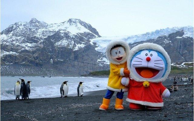 Doraemon & Nobita Reach Antarctica, 14,000 km from Japan!