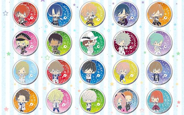 Uta no Prince-sama Decokira Badges On Sale in August!!