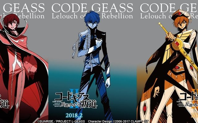 Code Geass Reveals New Film Titles and Release Dates!