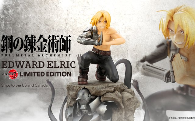 Limited Edition Edward Elric Figure from Kotobukiya Up for Grabs Exclusively at TOM Projects!