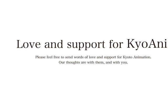 Love and Support for Kyoto Animation