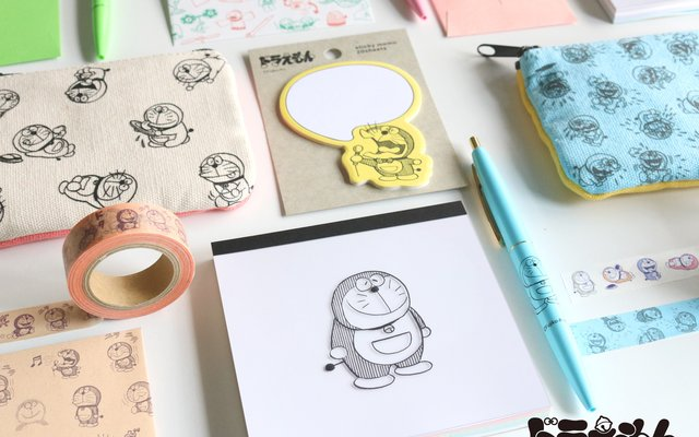 Doraemon Visits Again for New GreenFlash Stationery Collab!