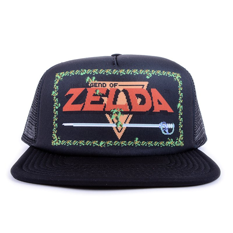 90057c86e The Legend of Zelda Game Logo Black Trucker Hat