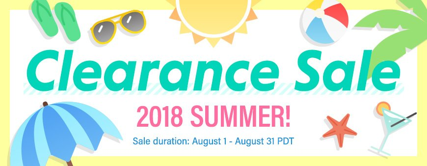 Clearance Sale 2018 Summer