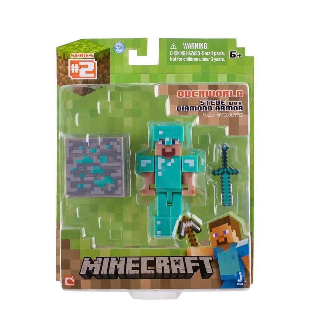 Minecraft Overworld Diamond Armor Steve W Accessories