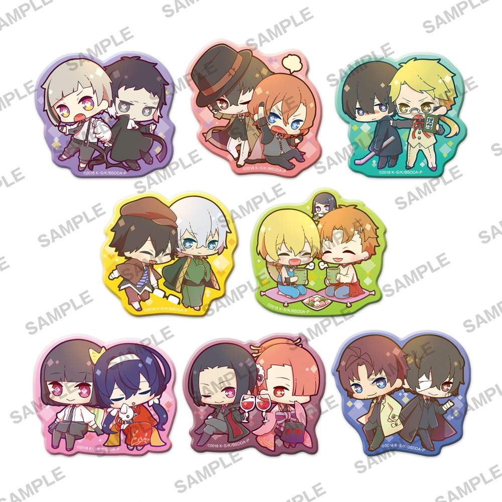 Bungo Stray Dogs Clear Clip Badge Box Set