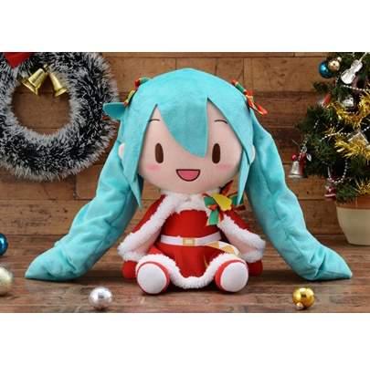 Hatsune Miku Christmas Outfit.Fluffy Plush Hatsune Miku Christmas 2019