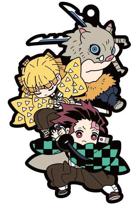 Buddy Colle Demon Slayer Kimetsu No Yaiba Rubber Mascot Box Set