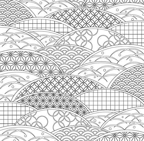 97 Japanese Pattern Colouring Book HD