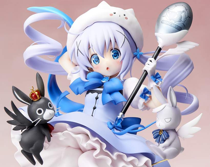 Magical Girl Chino 1//7 Pvc Figure Stronger IS THE ORDER A RABBIT ?