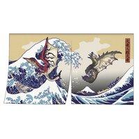 Monster Hunter Rathalos & Rathian x Fugaku Ukiyo-e Noren/Tapestry