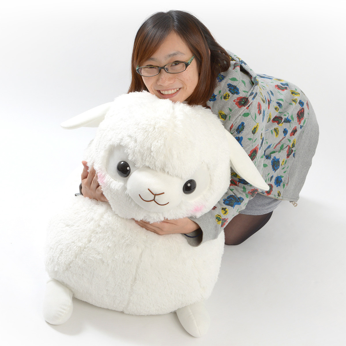 Free Shipping Baby Alpacasso Alpaca White Plush Super