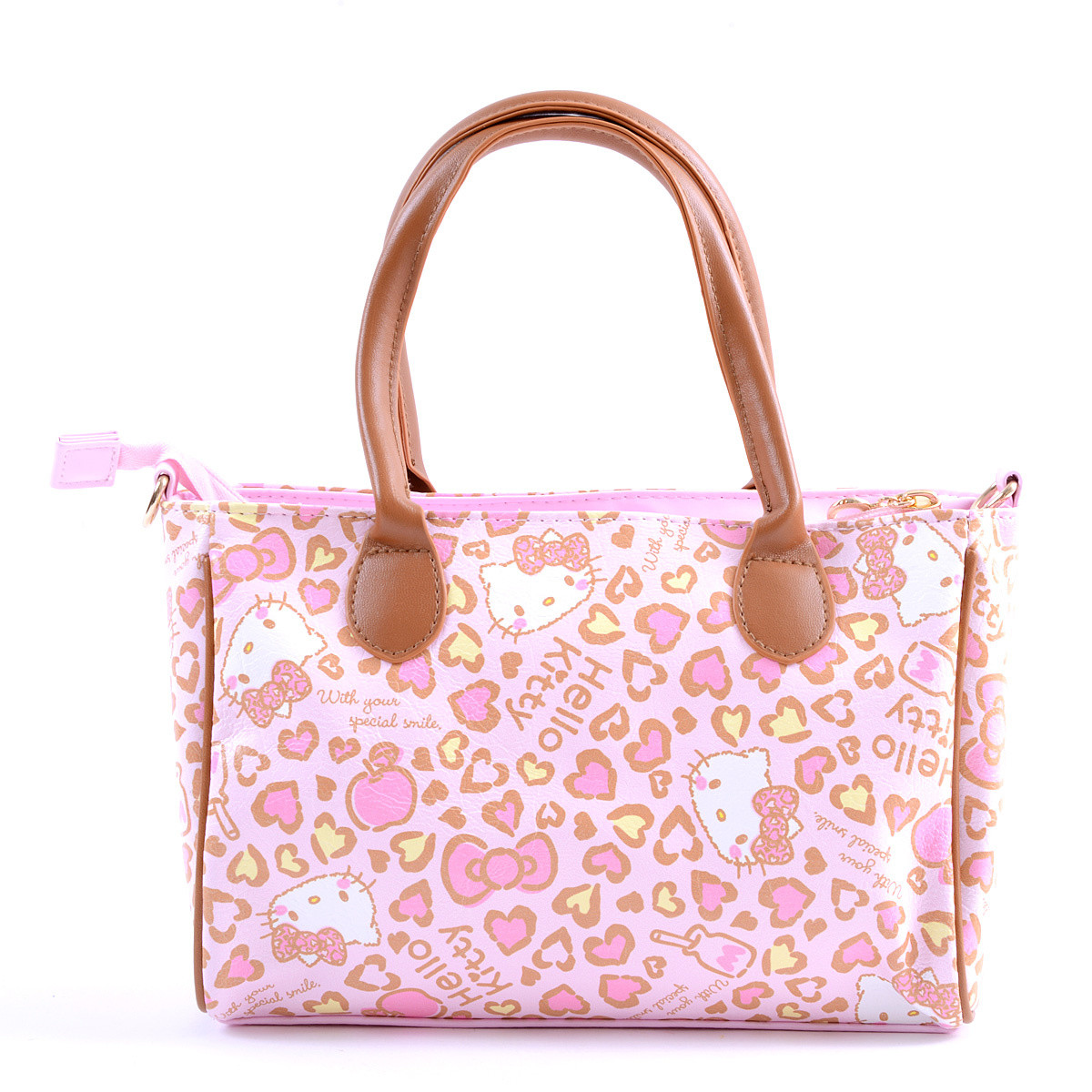 7effc75046 Hello Kitty Pink Leopard Shoulder Bag