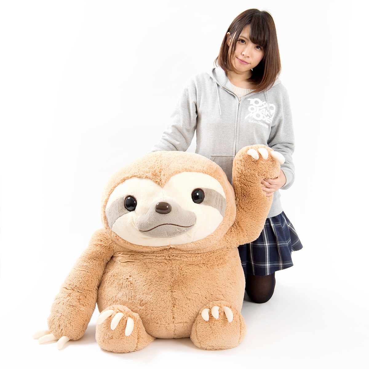 Namakemono No Mikke Sloth Plush Super Jumbo