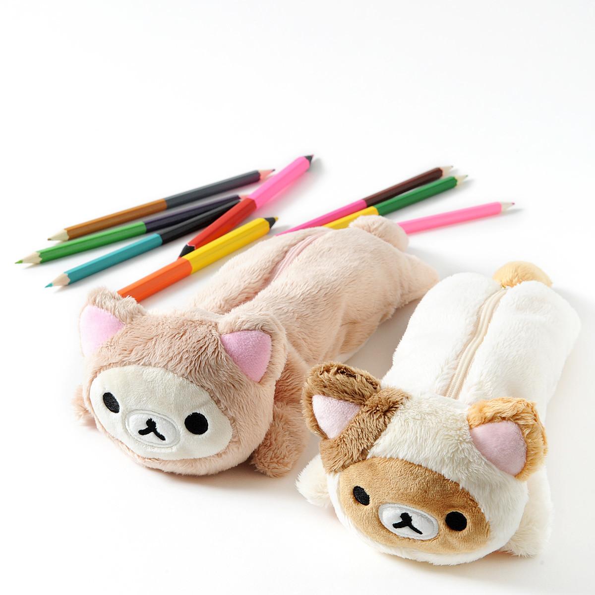 Rilakkuma Motto Nonbiri Neko Plush Pencil Case Tokyo