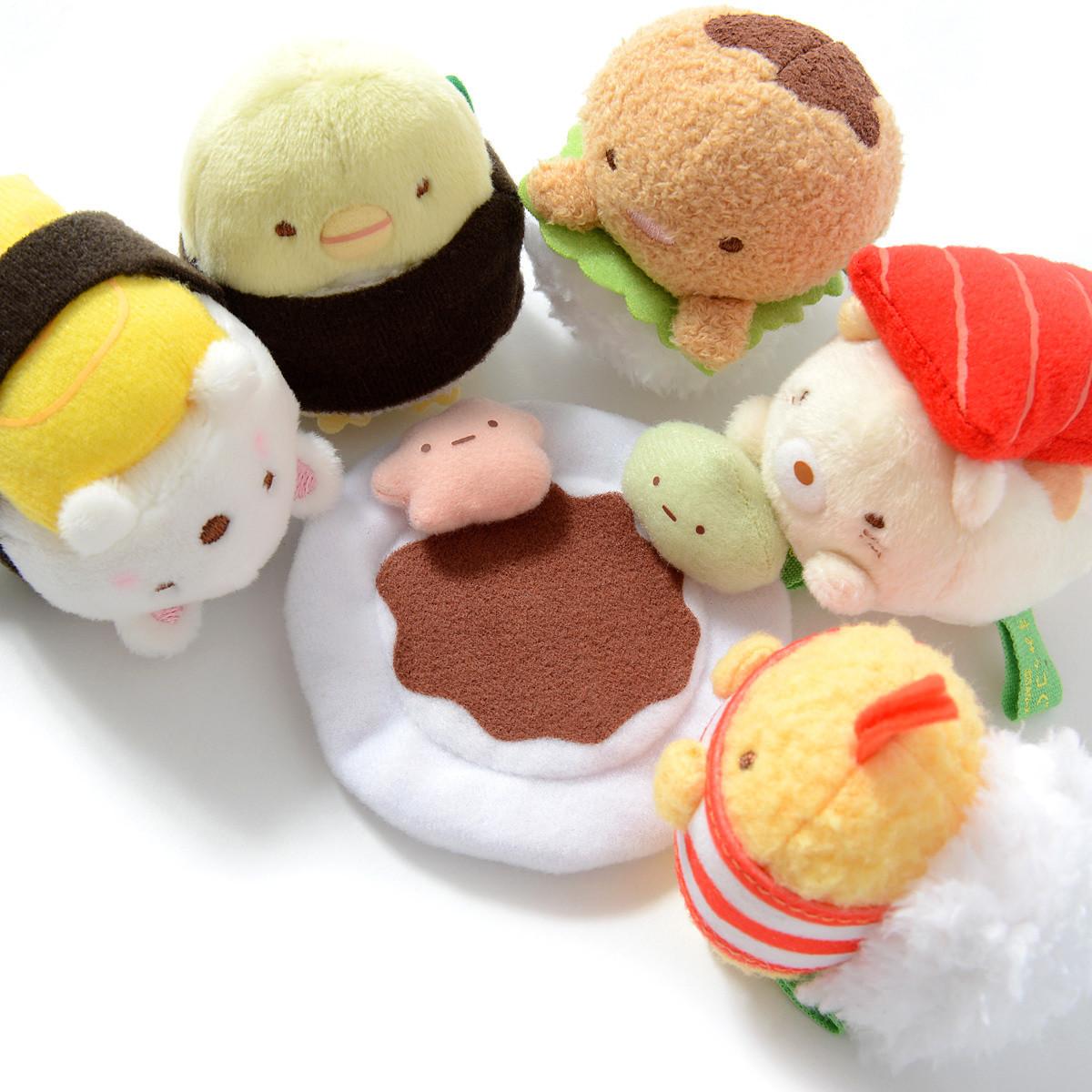 Sumikko Gurashi Sushi Party Hand Size Mini Plush