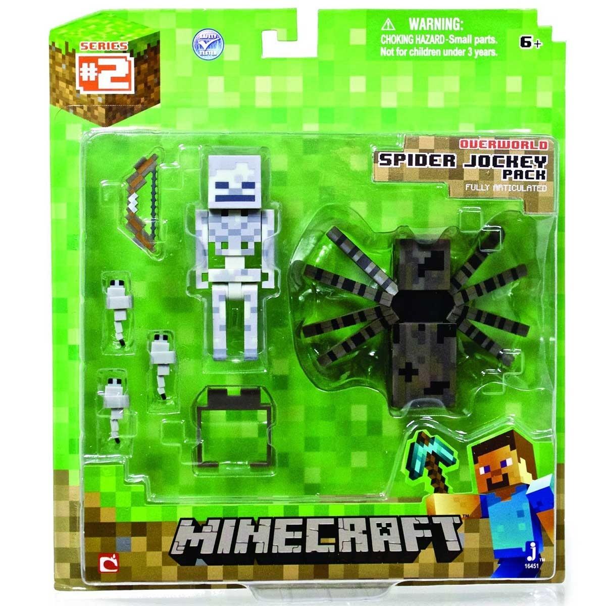 Minecraft Overworld Série 2 Spider Jockey Pack RARE