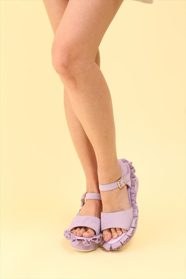 Honey Salon Frilly Sandals Lavender Tokyo Otaku Mode Shop