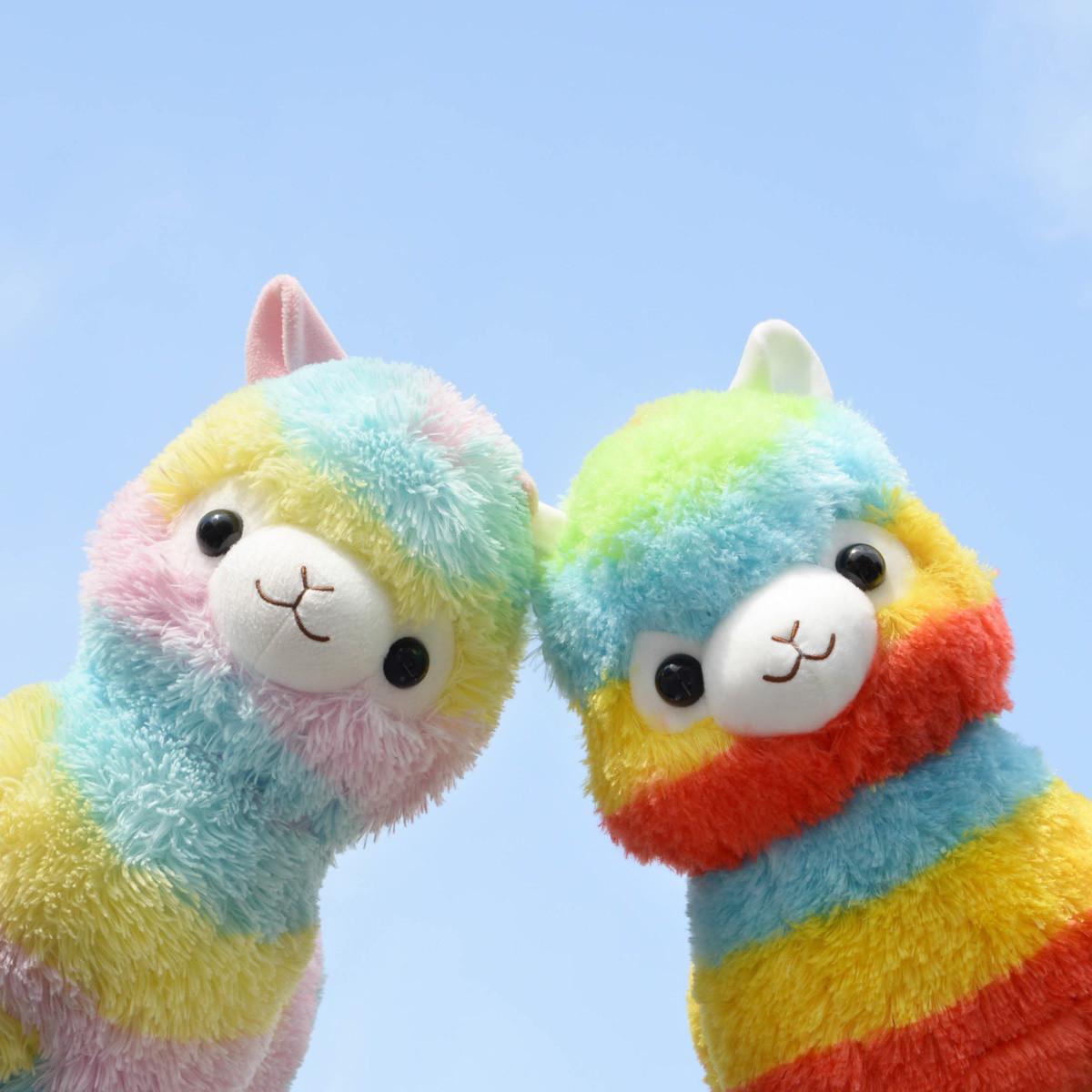 Tom Exclusive Double Rainbow Alpacasso Alpaca Plush Pair