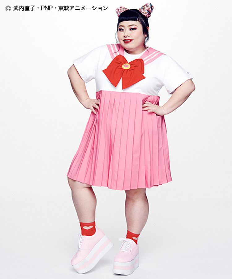 579e7a3adba Sailor Moon Collaborates with Watanabe Naomi for Plus Size Fashion Line!
