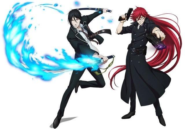 black butler and blue exorcist collaboration released tokyo otaku