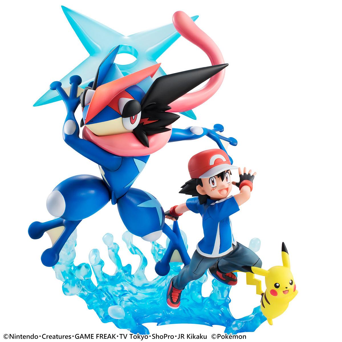 Resultado de imagem para Mega House GEM Pokemon Satoshi Pikachu e Gekkouga Ash