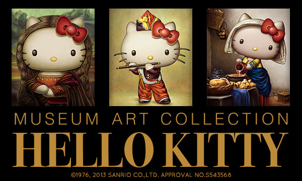 baece8793 Hello Kitty Collaborates Once More with World-Famous Paintings ...