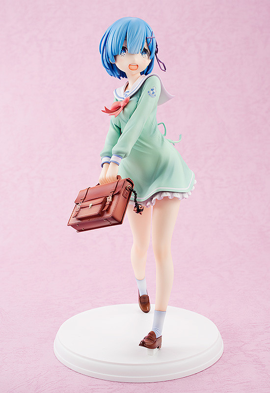 Rem Swaps Her Maid Outfit For a School Uniform in New Kadokawa Figure!