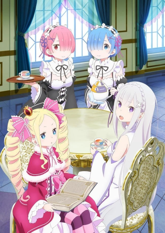 Image result for re:zero tea party emilia
