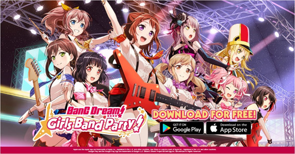 BanG Dream! Girls Band Party Scores One Million Downloads For English Language Localisation!