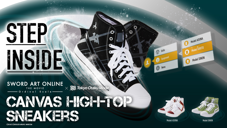 [SAO x TOM] Sword Art Online Canvas High-Top Sneakers