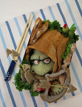 Dragon Quest Monster Bentos (Lilliput and Box Slime)