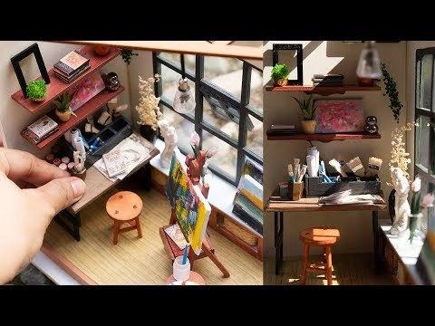 DIY Miniature Dollhouse Art Room