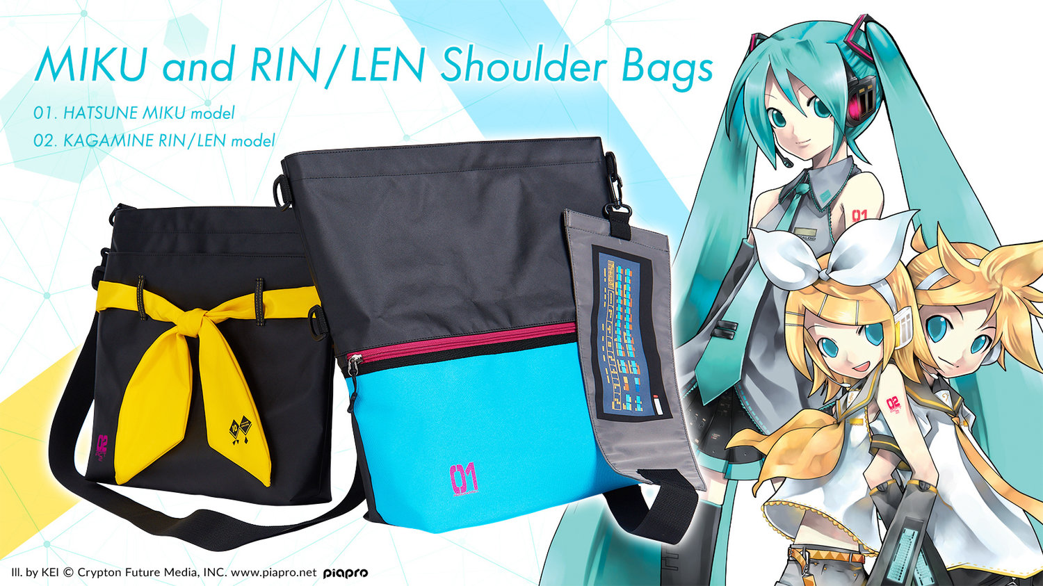 MIKU and RIN / LEN Shoulder Bag